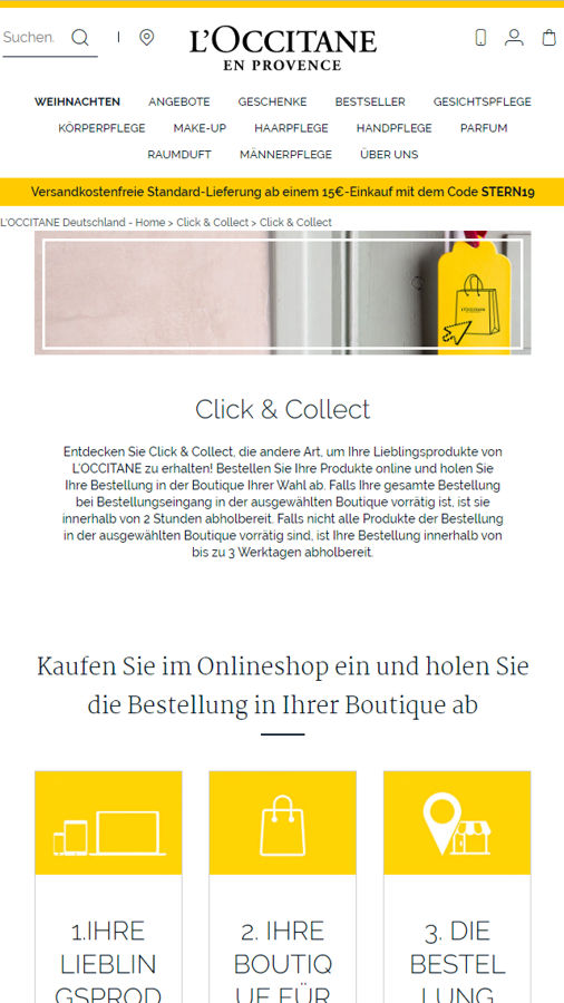 L'Occitane Click & Collect