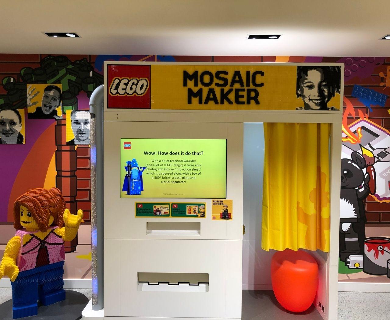 Lego stellt den Kunden einen Mosaic Maker zur Verfügung