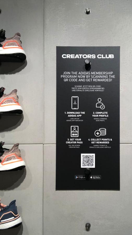 QR-Code des Creator Clubs von adidas