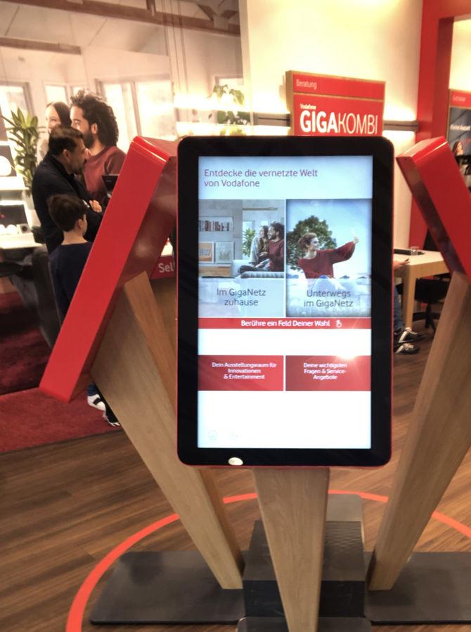 Touchscreen von Vodafone