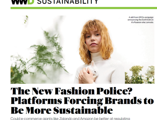 How can e-commerce platforms move the fashion industry toward greater sustainability?
