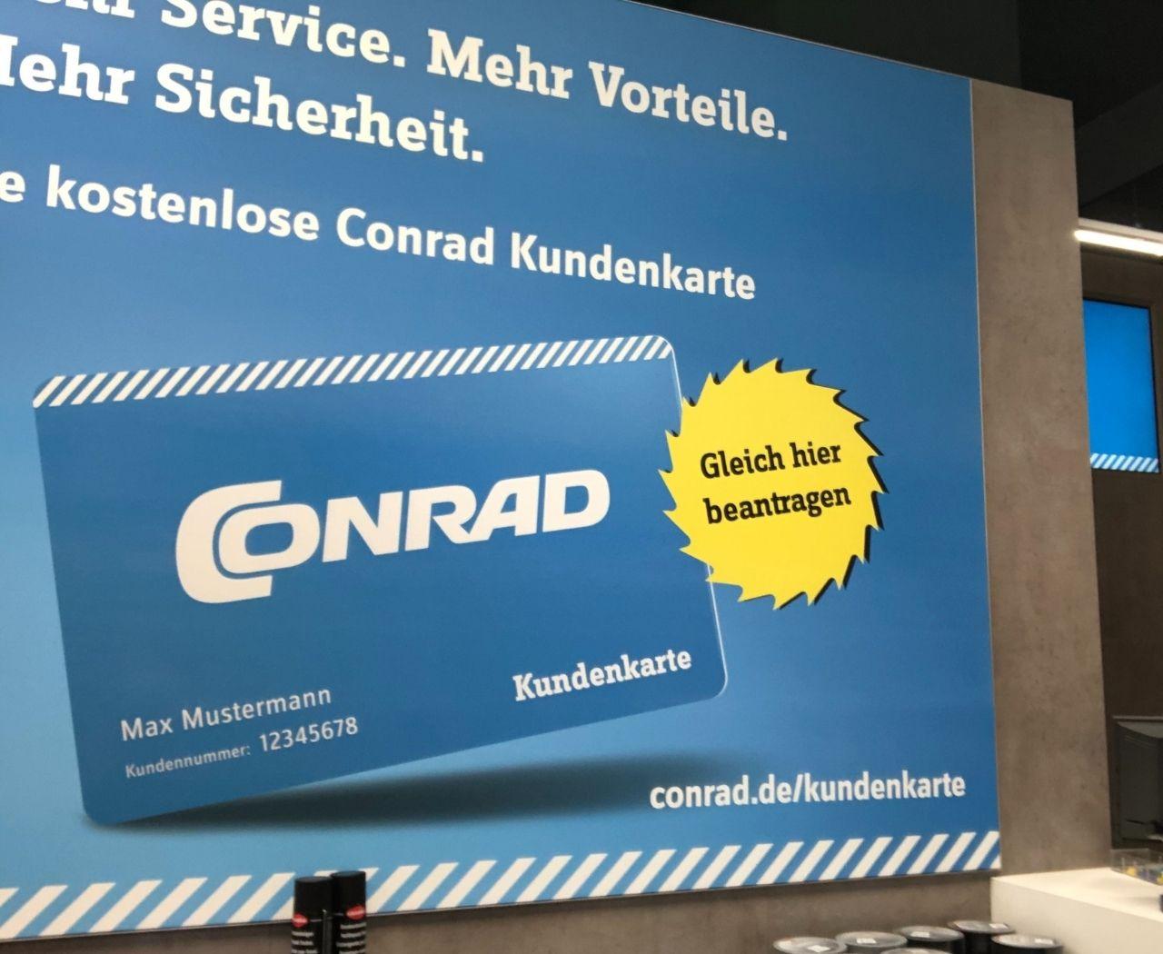 Conrad-Kunden können ihre App als Kundenkarte nutzen