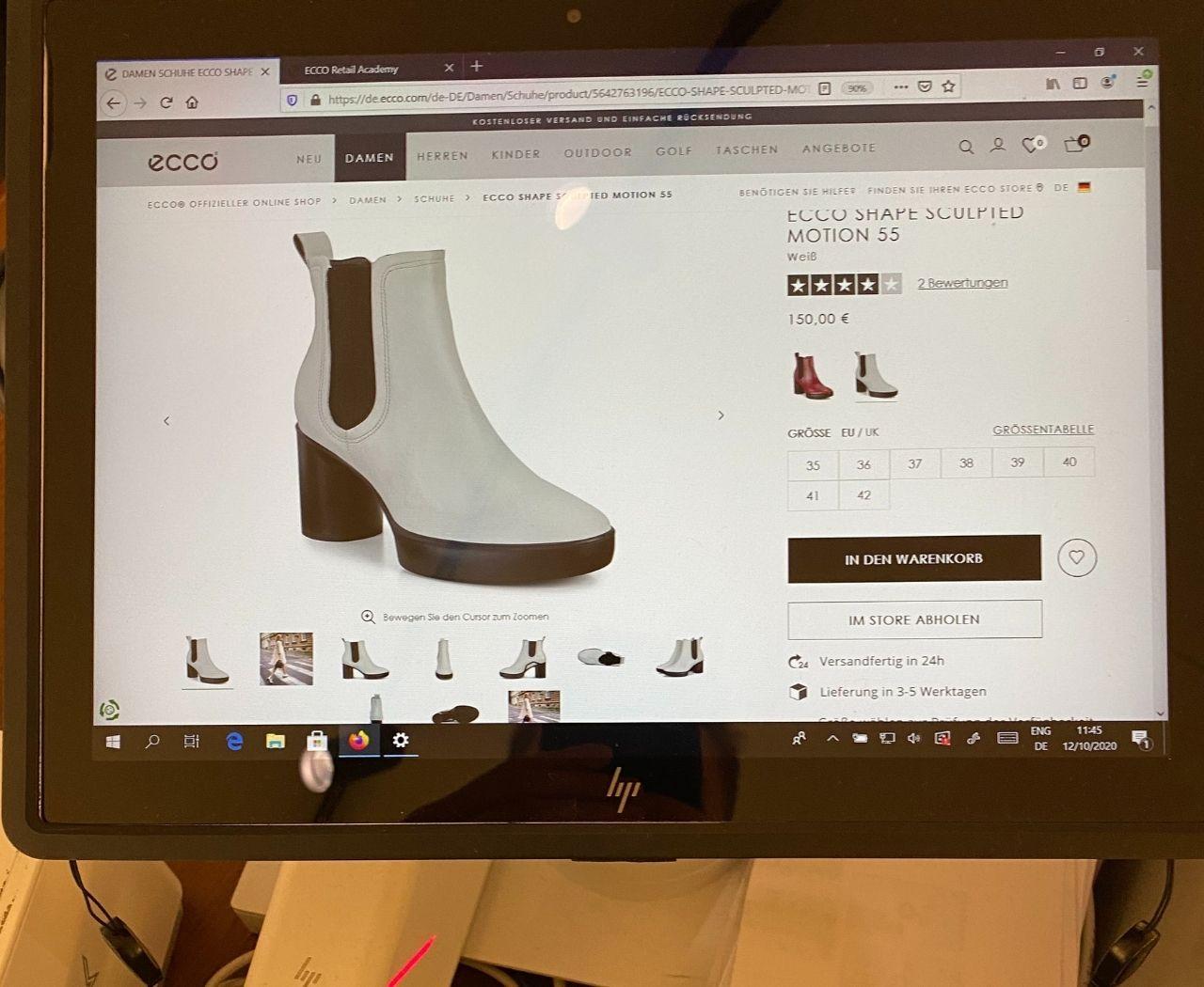 Bei Ecco sind vollständige Produktinformation leicht zugänglich